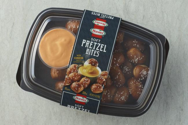 Hormel Pretzel Bites and Cheese Tray
