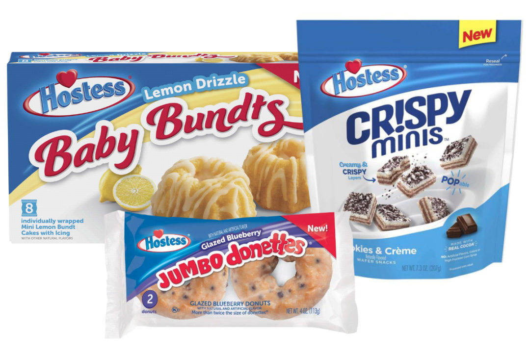 Hostess Baby Bundts, Crispy Minis and Jumbo Donettes