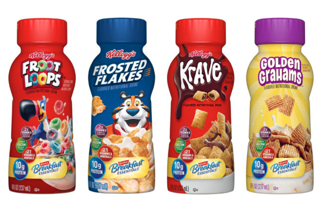 Kellogg Nestle breakfast nutritional drinks