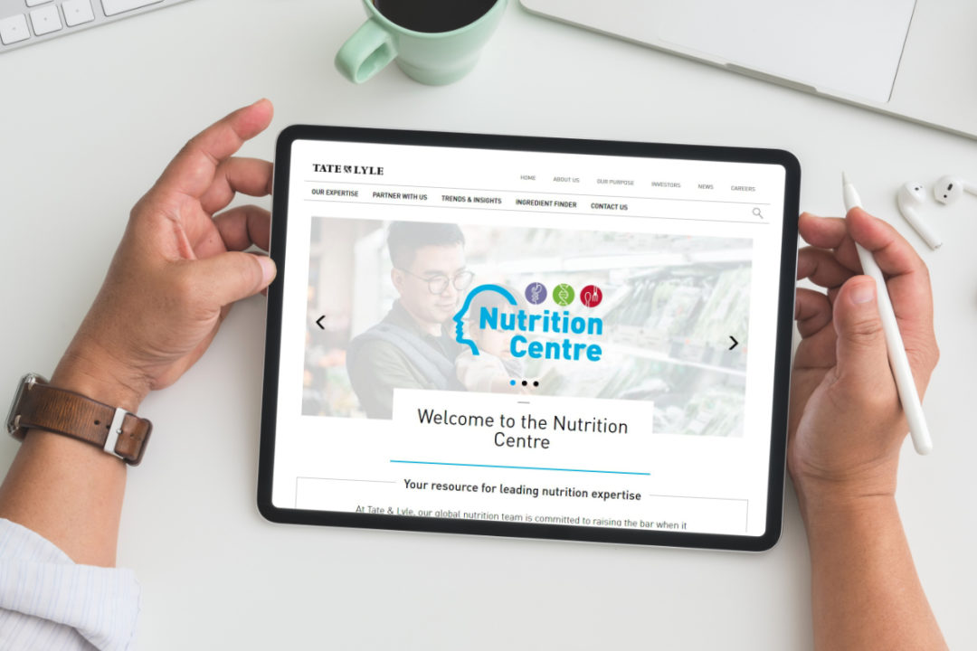 Tate & Lyle Nutrition Centre digital hub