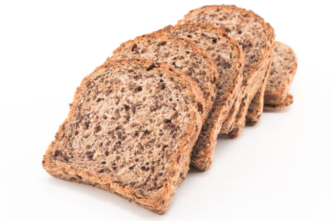 Whole grain sprouted wheat bread