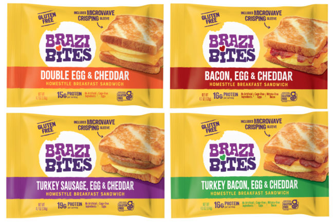 Brazi Bites gluten-free Homestyle Breakfast Sandwiches