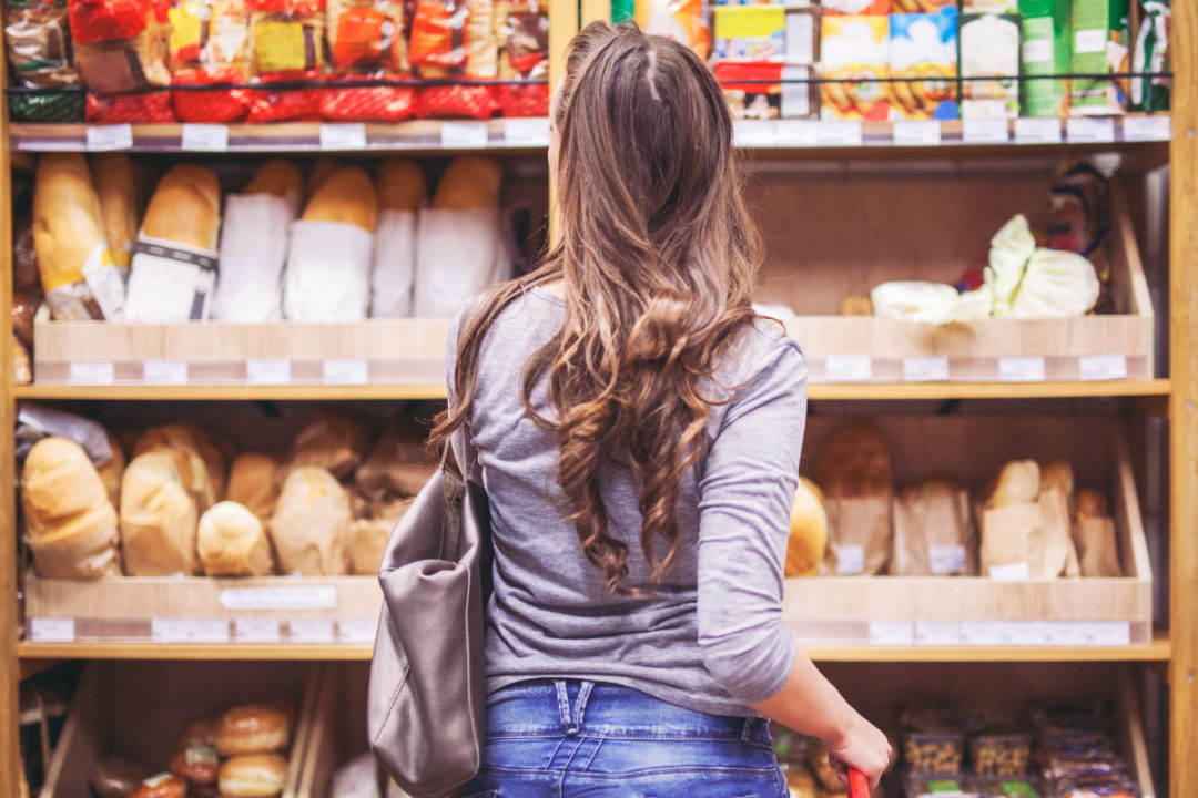 Shopping for bread