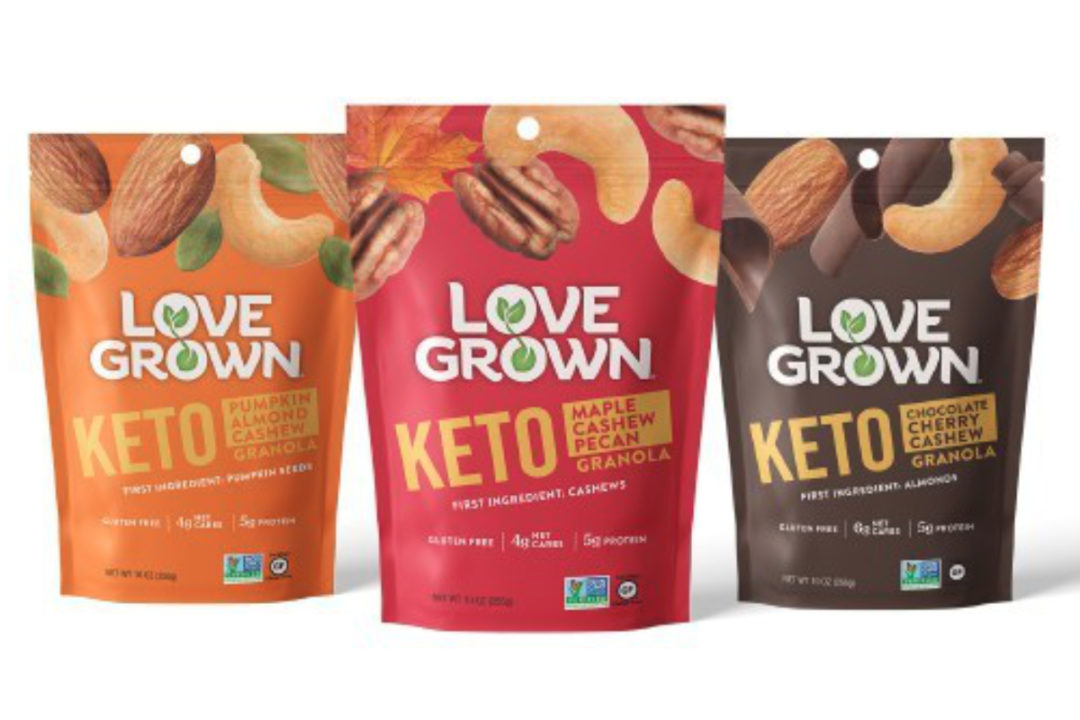 Love Grown Foods keto-friendly granola