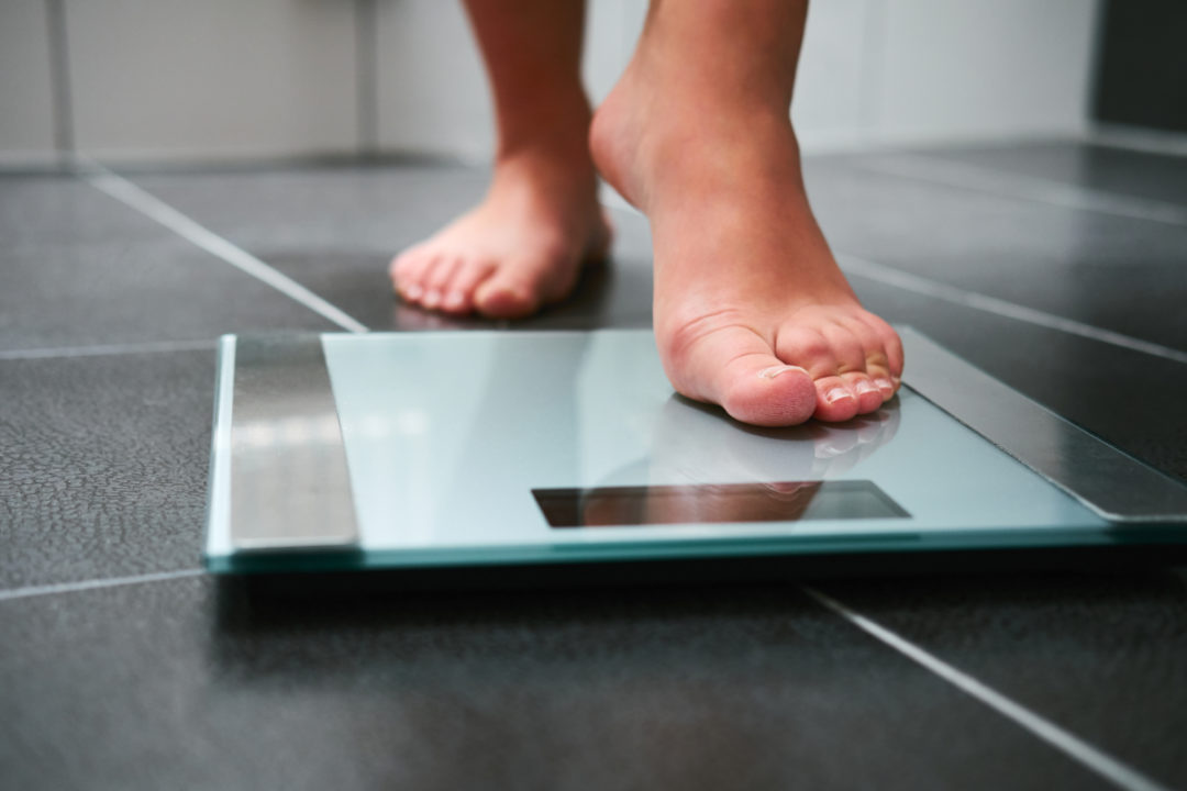 Stepping on a scale