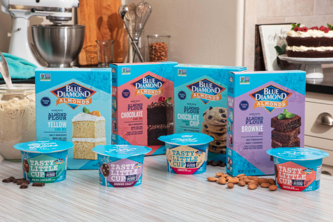 Blue Diamond Growers baking mixes and Tasty Little Cups