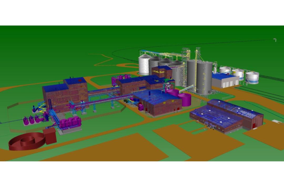 Cargill canola plant in Regina, Sask, rendering