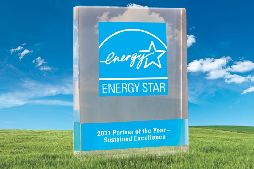 2021 Energy Star Partner of the Year: Sustained Excellence award