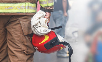 Firefighterhelmet lead