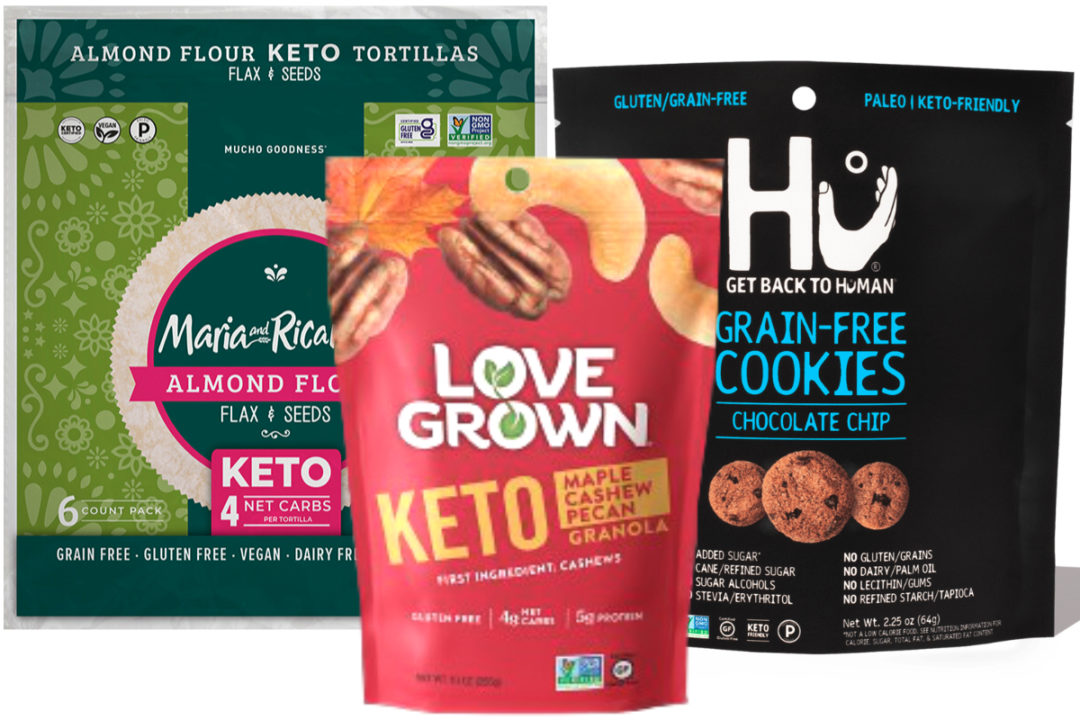 New keto products from Mondelez, Maria & Ricardo's, Love Grown Foods