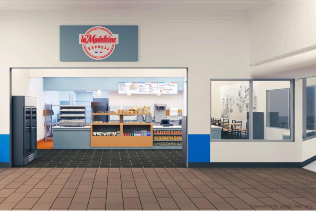 La Madeleine Express restaurant rendering