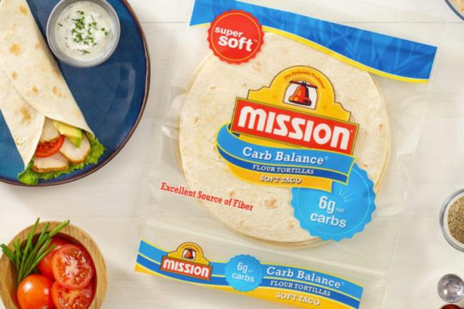 Mission Foods super soft Carb Smart tortillas