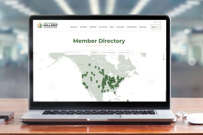 NAMA website member directory map