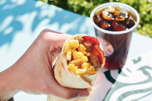 Starbucks breakfast burrito