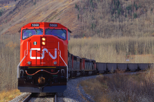 Canadian National Railway train