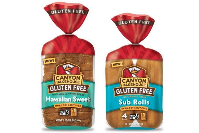 Canyon Bakehouse gluten-free Sub Rolls and Hawaiian Sweet Bread