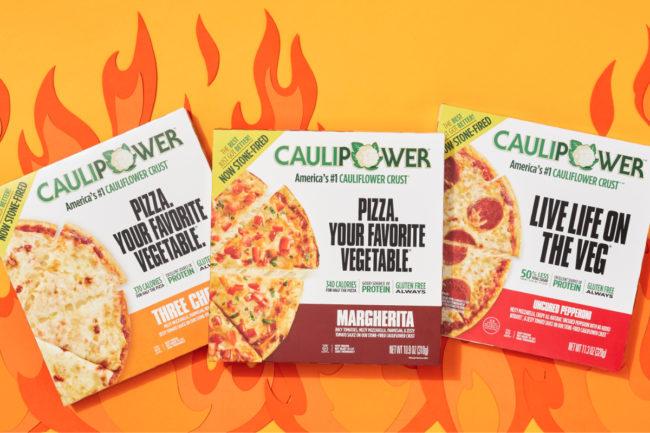 Caulipower stone-fired cauliflower crust pizzas