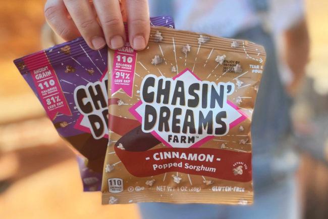 Chasin' Dreams Farm popped sorghum snacks
