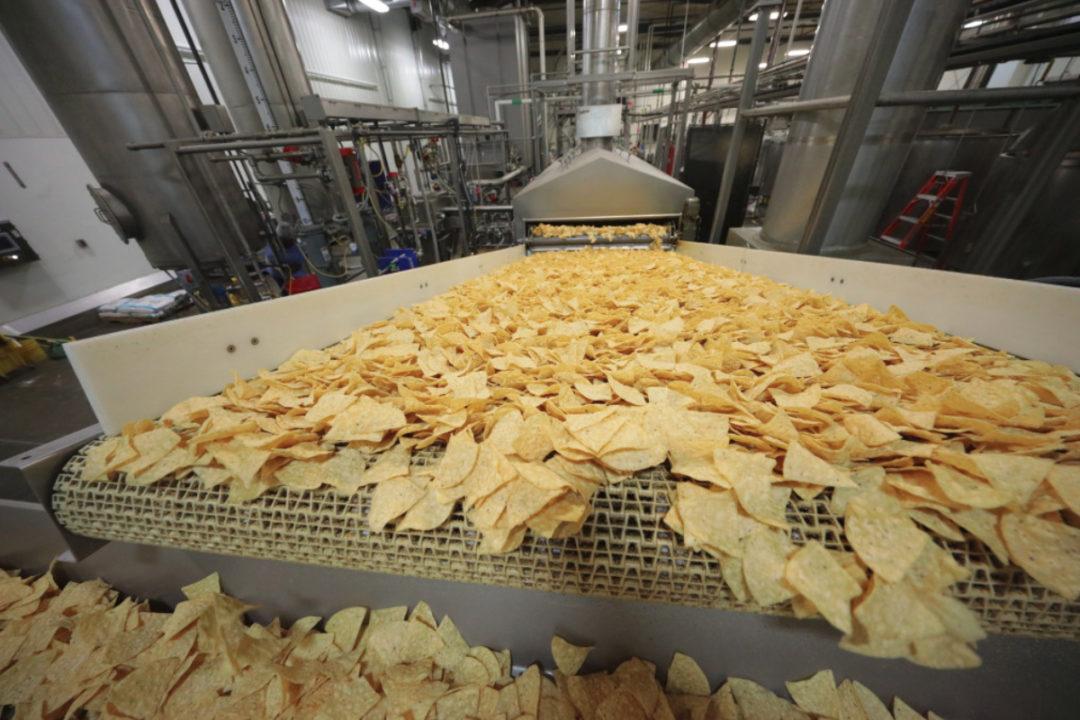 Festida Foods tortilla chip manufacturing line