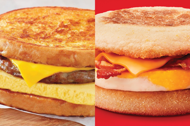 French Toast Breakfast Sandwich from Burger King
