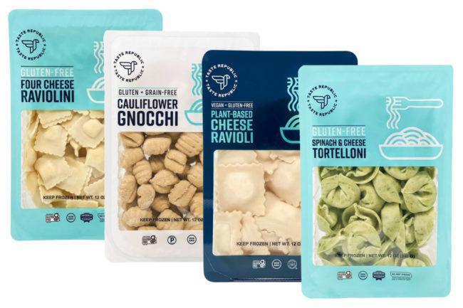 Taste Republic plant-based cheese ravioli, cauliflower gnocchi, spinach and cheese tortelloni, and four cheese raviolini