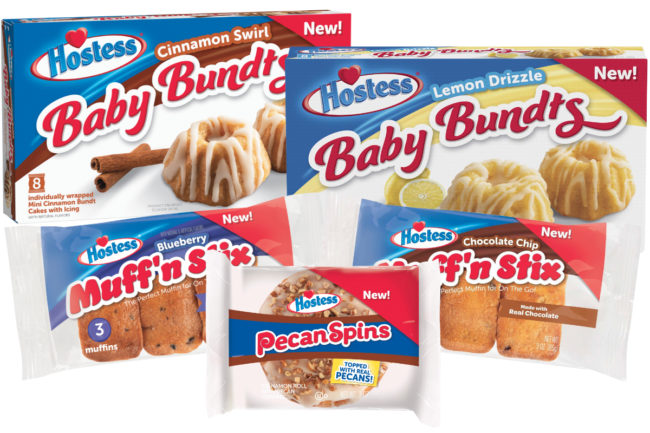 Hostess Baby Bundts, Muff'n Stix and Pecan Spins