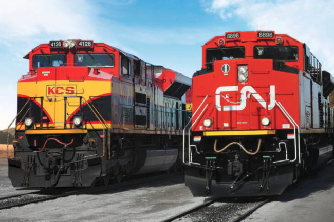 KCS and CN locomotives