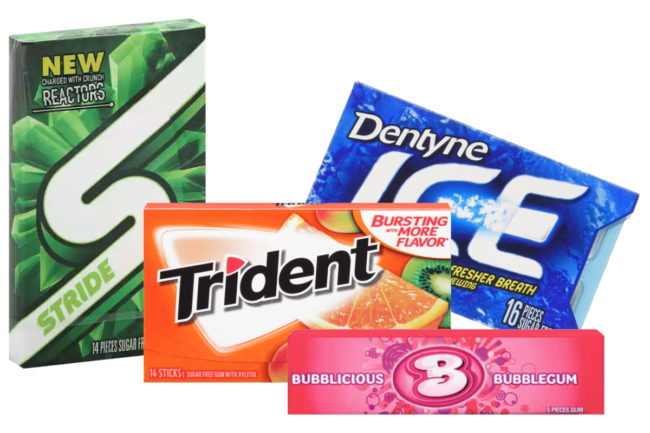 Mondelez Bubblicious, Dentyne, Stride and Trident gum