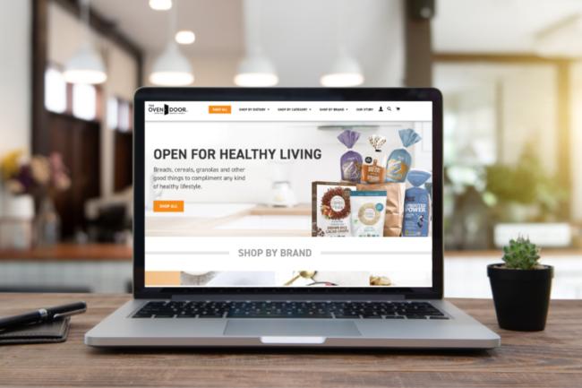 OverDoor's online shopping platform on computer screen