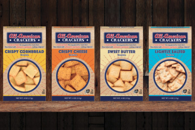All American snack crackers by Partners Crackers