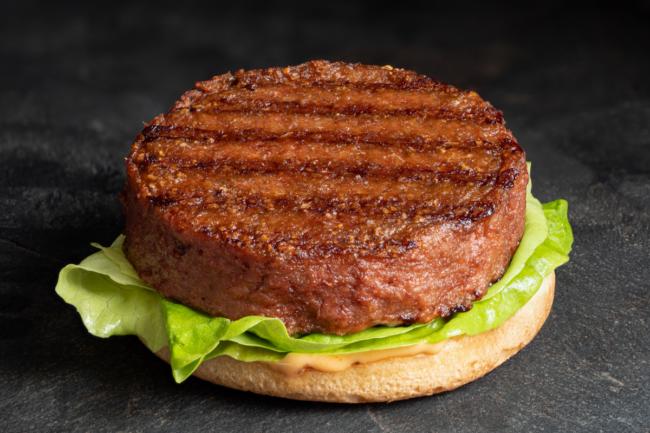 plant-based burger patty