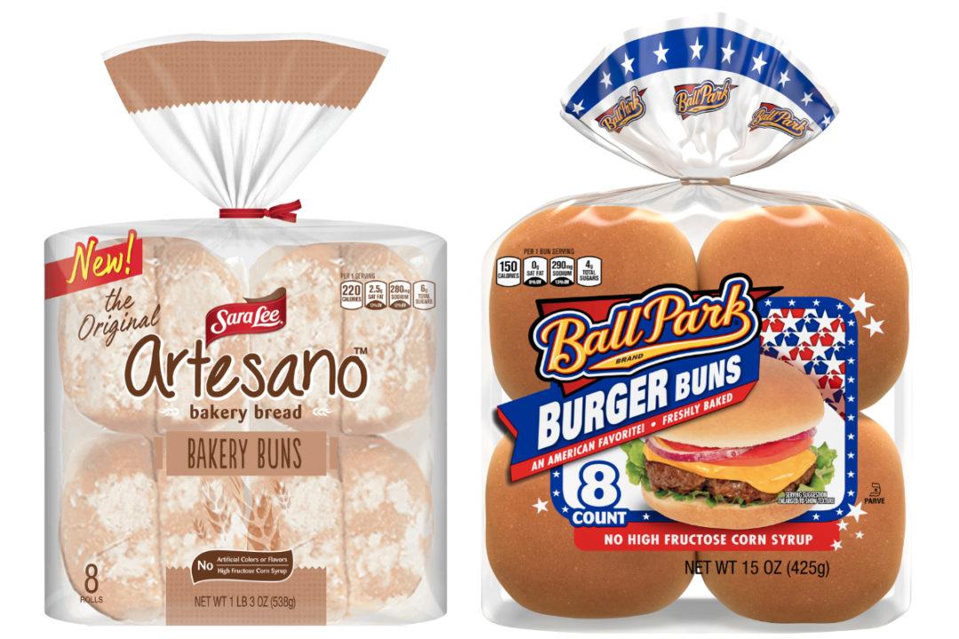 Sara Lee Artesano and Ball Park hamburger buns