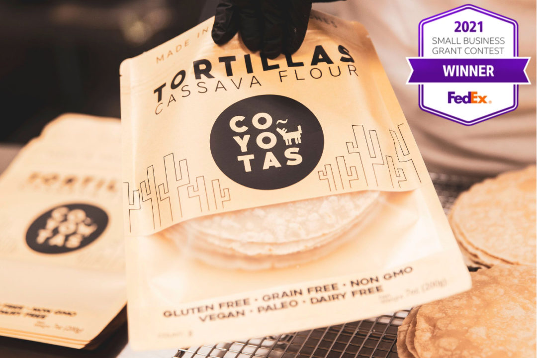 Coyotas tortillas and FedEx Small Business Grant Contest logo