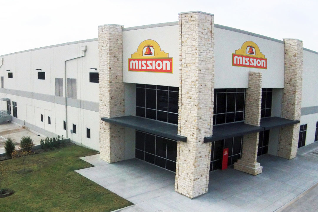 Exterior of Mission Foods facility