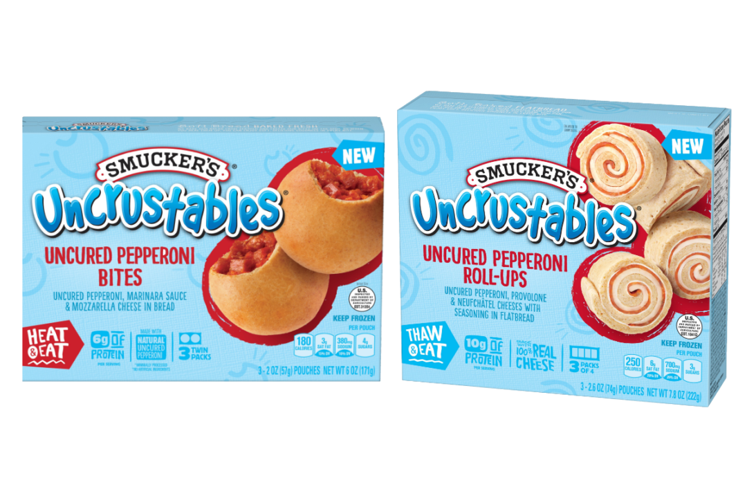 Uncrustables uncured pepperoni bites and uncured pepperoni roll-ups