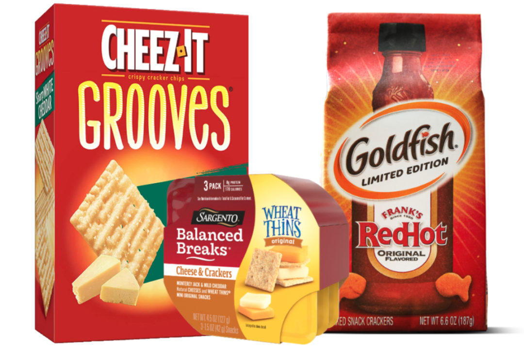 Cheez-It, Sargento and Goldfish crackers