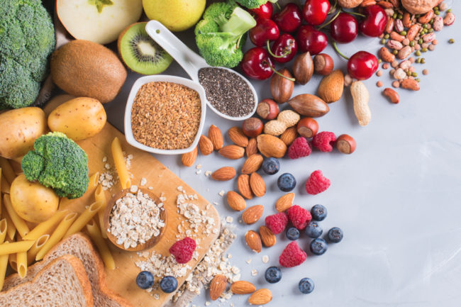 Various types of food