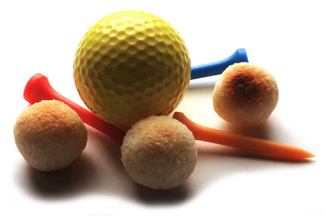 Golf balls and donut holes