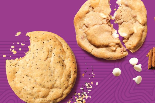 Insomnia Cookies Everything Bagel Cookie and Cinnamon Bun Cookie