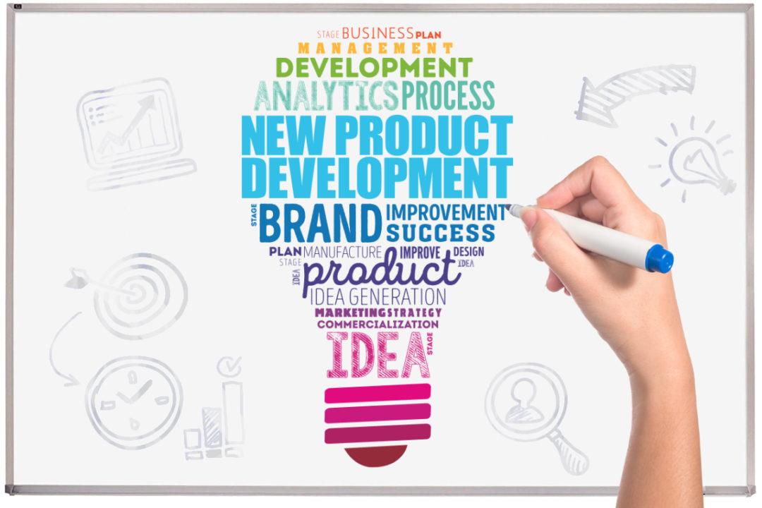 New product development whiteboard