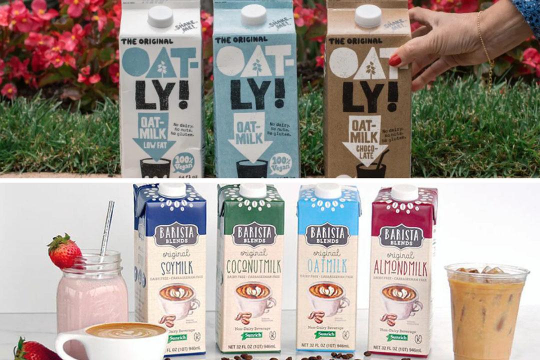 Oatly and SunOpta plant-based milk products