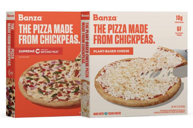 Banza Supreme and Plant-Based Cheese Pizzas