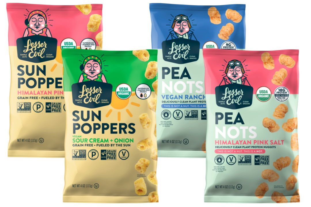 LesserEvil Sun Poppers and PeaNots