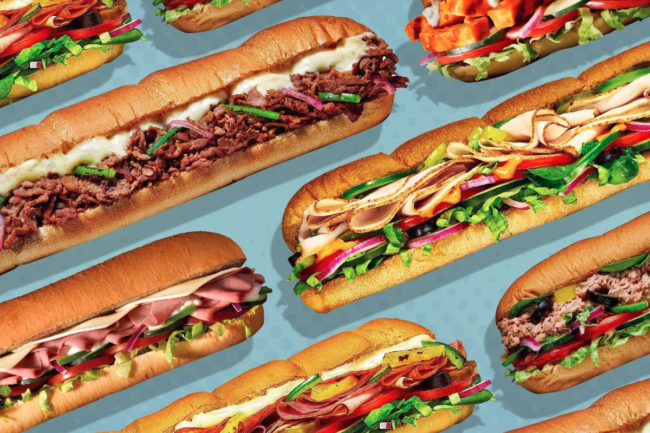 Subway Eat Fresh Refresh sandwiches