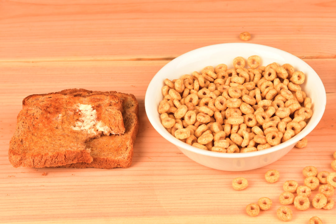 Toast and cereal