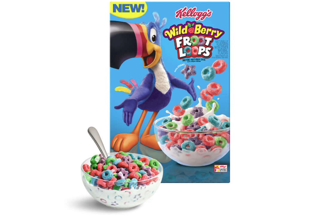 The Kellogg Co. has introduced Wild Berry Froot Loops.