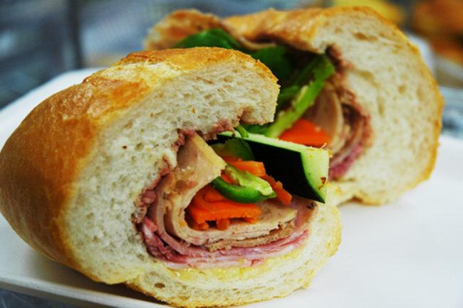 DP Bakeshop Banh Mi sandwich