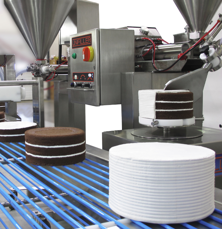 Unifiller cake icing equipment