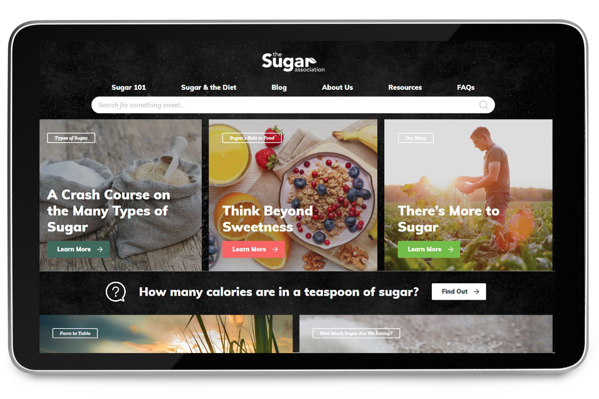 Sugar Association web site