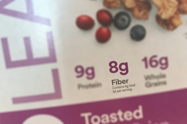Fiber label on box